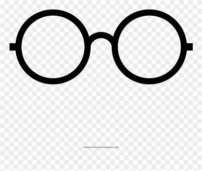 Potter Harry Glasses Coloring Clipart Pages Scar