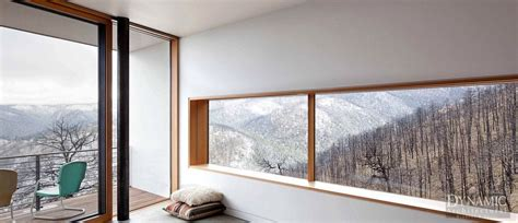 wood picture window dynamic architectural