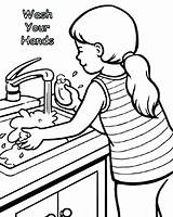 Washing Wash Coloring Hands Hand Pages Drawing Colouring Sheets Printable Clipart Sheet Boy Basin Kid Preschoolers Clip Sink Getdrawings Drawings sketch template