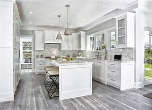 Gray, Kitchen, Floors, -, Transitional, -, Kitchen