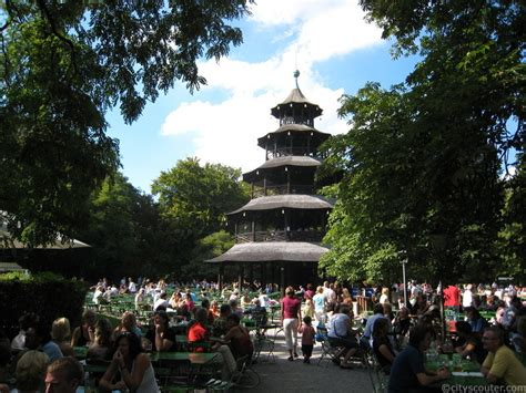 Der Chinesische Garten Line by Tower Chinesischer Turm Munich Tourist Guide