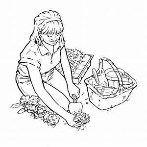 Jardin Dessin Couleur : coloriage jardinier en couleur dessin gratuit imprimer ~ Melissatoandfro.com Idées de Décoration