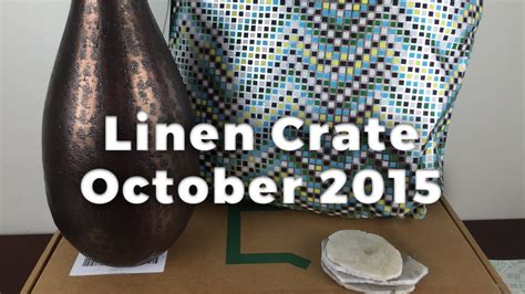 Home Decor Subscription Box : Linen Crate October 2015 Unboxing Review
