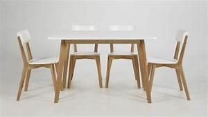 Stühle Esszimmer Weiß : esszimmer set raven tisch und 4 st hle wei lackiert birke ~ Sanjose-hotels-ca.com Haus und Dekorationen