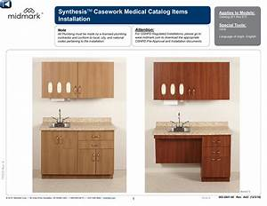Midmark Synthesis U00ae Cabinetry Installation Manual