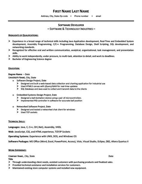 software developer resume template premium resume