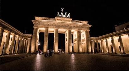 Berlin Gifs Germany Gate Brandenburg Landmarks Night