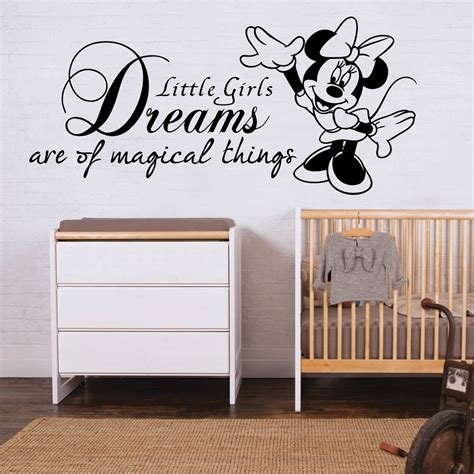 Disney Quotes For Bedroom Walls by Details About Minnie Mouse Wall Sticker Quote Disney