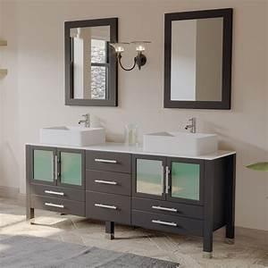 Cambridge, Plumbing, 8119xl, 71, Inch, Espresso, Solid, Wood, Bathroom, Vanity, Set