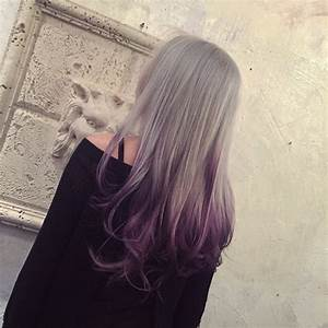 Silver to Purple Ombre - Hair Colors Ideas