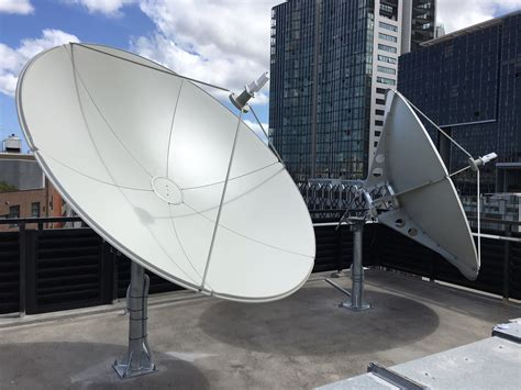 cuisine satellite suman 2 4m c band satellite dish av comm