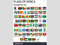 Flags Africa Complete Set Flags Original Stock Vector