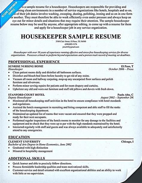 housekeeper resume       highlight