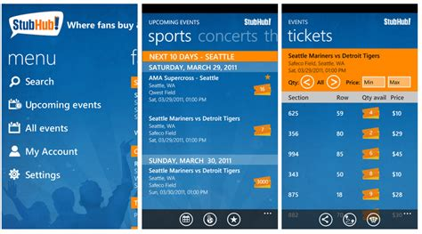 official stubhub app comes to windows phone windows central