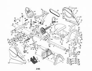 Proform 831280182 Exercise Cycle Parts