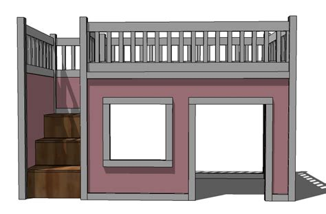 wood work  loft bed plans twin easy diy