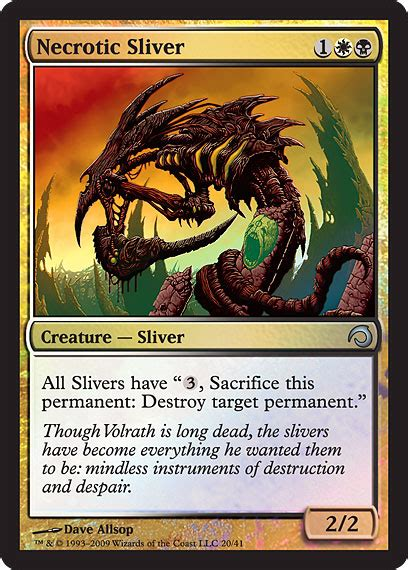 mtg sliver deck card players what of deck do you use