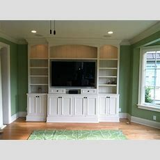 Shaker Style Builtin Media Center  Living Room