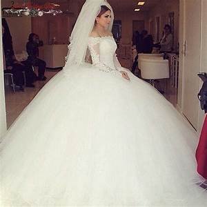 princess long sleeve puffy ball gown wedding dresses off With puffy princess wedding dresses