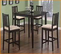 high table and chairs 51 High Table And Chair Set, Buttermilk And Cherry High ...