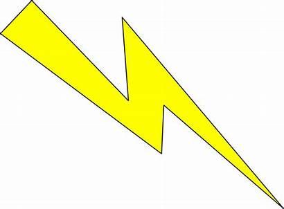 Lightning Yellow Clipart Thunderbolt Outline Blitz Transparent