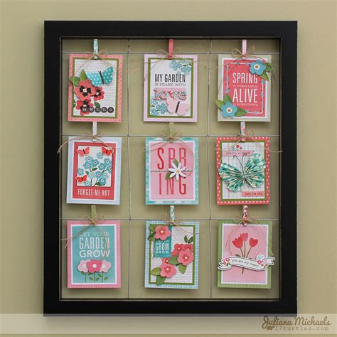 How i write & decorate my postcrossing postcards! Framed Spring Journal Cards - Pebbles, Inc.