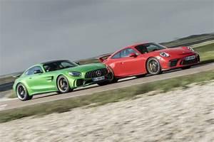 Mercedes Amg Gt Prix : essai comparatif la mercedes amg gt r d fie la porsche 911 gt3 l 39 argus ~ Gottalentnigeria.com Avis de Voitures