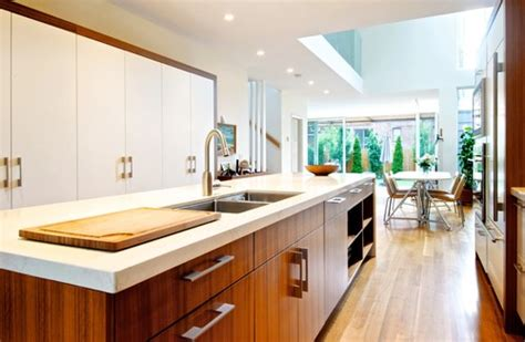 houzz contemporary kitchens wood accents for a white kitchen premier remodeling and 1717