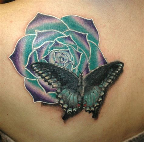 Exotic Flower Tattoos  Butterfly With Exotic Flower By