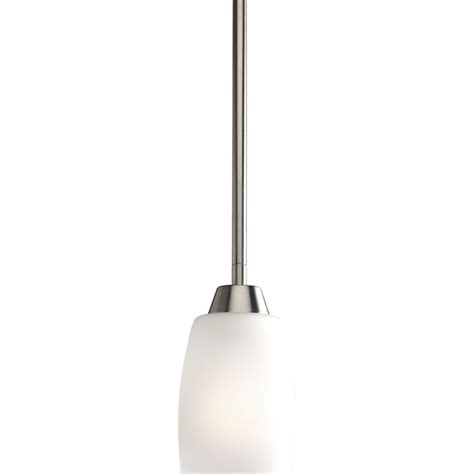 progress lighting wisten collection brushed nickel 1 light