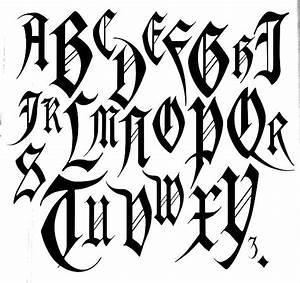 17 best images about fancy fonts on pinterest With old english gothic letters