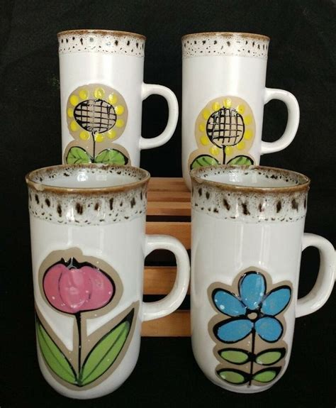 It is a glass coffee mug you can introduce to your home. Vintage 4 Piece Set Otagiri Style Irish Coffee Tall Mugs Cups Floral Japan #Unbranded | Irish ...