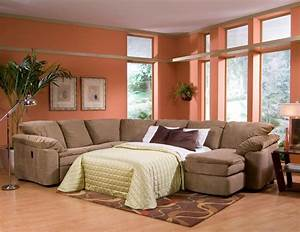 Arrange multifunction room with sectional sleeper sofa for Sectional sofa with recliner and queen sleeper