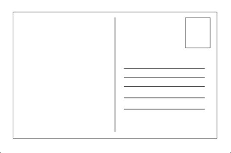 Free Blank Postcard Template For Word by Postcard Templates Free Blank Postcard Template Free Blank