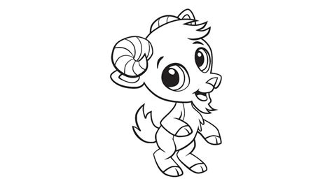 baby goat coloring printable
