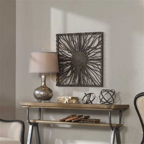 uttermost co uttermost josiah square wooden wall