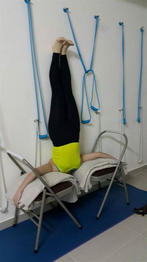 53 best iyengar chair inversions images on iyengar chair and props