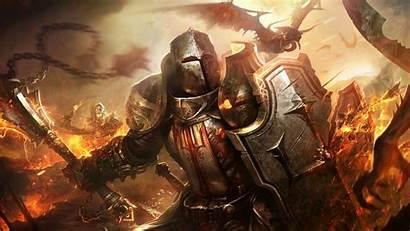 Knight Fantasy Diablo Shield Dragon Crusaders Souls