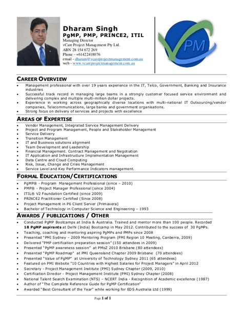 Trainer Profile Sle by Dharam Singh Trainer Profile