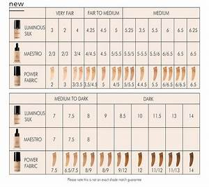 Estee Lauder Double Wear Tone Chart Giorgio Armani Power Fabric Foundation Color Match Chart