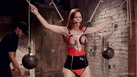 Syren De Mer In Redhead Milf Is Tied Up In The Sex Dungeon HD From Kink Hogtied