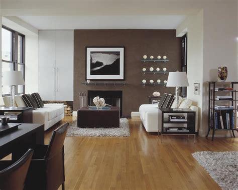 peinture marron papiers peints  revetements dans le salon