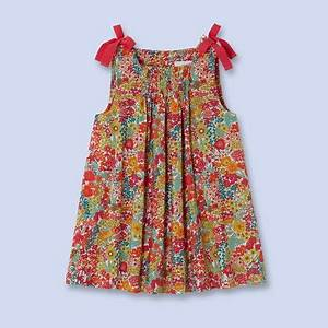 robe a smocks en tissu liberty pour bebe fille moda With robe liberty fille