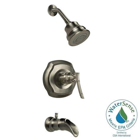 pegasus bamboo faucet brushed nickel pegasus bamboo watersense single handle 3 spray tub and