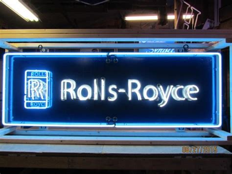 Rolls Royce Neon Porcelain Sign