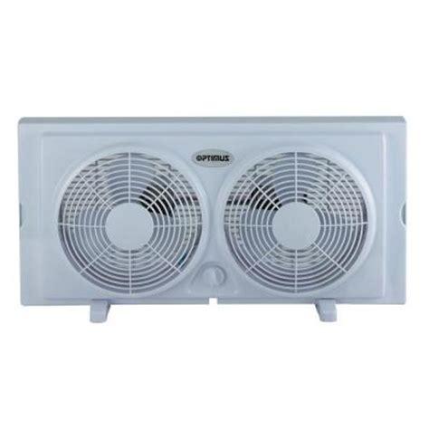 window exhaust fan home depot optimus 7 in twin window fan in white f5280 the home depot
