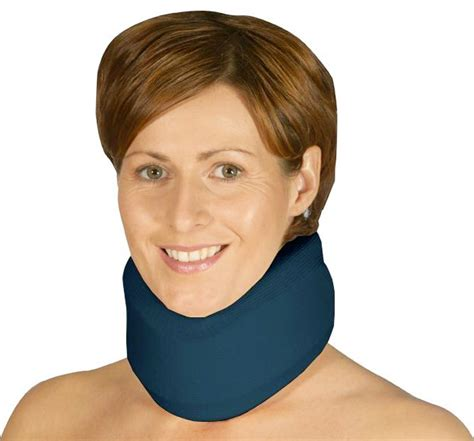 chambre inhalation collier cervical souple cervix 1 bleu marine velpeau l