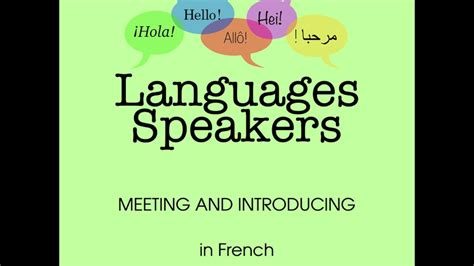 LEARN FRENCH: Basic conversations in French language - YouTube