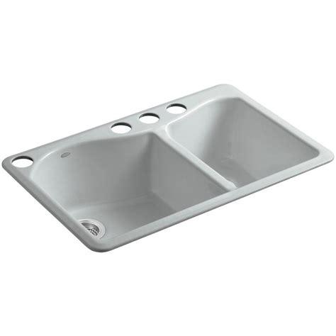 33 undermount kitchen sink kohler brookfield undermount cast iron 33 in 5 hole