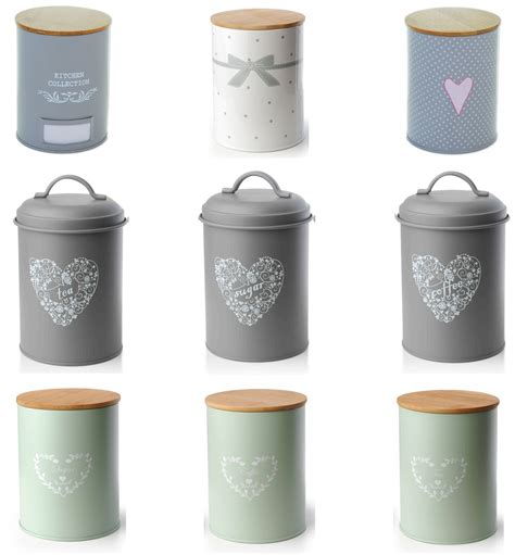 retro canisters kitchen set of 3 vintage shabby chic tea coffee sugar kitchen